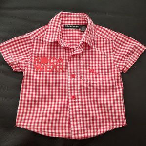 Rocawear Baby Red And White Checkered Shirt